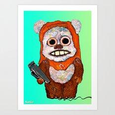 Eccentric Ewok Art Print