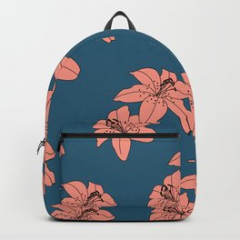 Lily The Tiger - Peach Blue Backpack