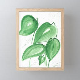 Green leafs Framed Mini Art Print