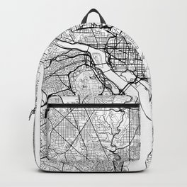 Washington Map White Backpack