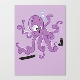 Scared Octopus Canvas Print