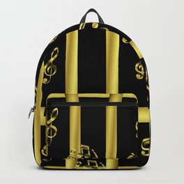 golden notes music symbol Backpack