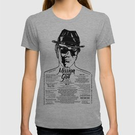 Elwood Blues Brothers tattooed 'Dry White Toast' T-shirt