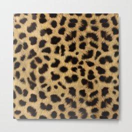 Faux Cheetah Skin Design Metal Print