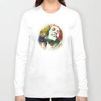 reggae Long Sleeve T-shirts featuring Reggae Music Man by Gary Grayson