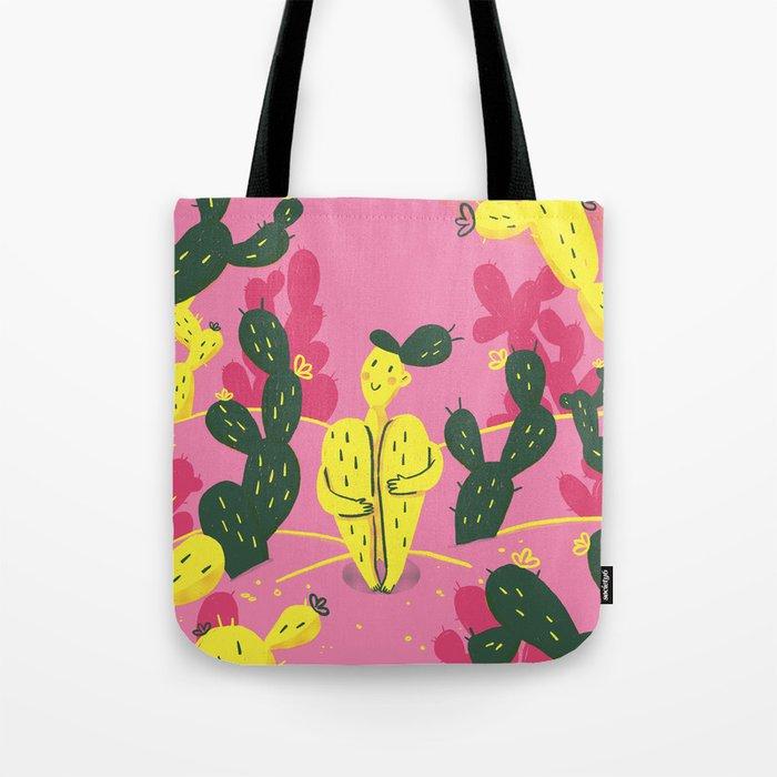 Natural Habitat Cactus Lady Tote Bag by giuliamartinelli