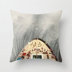 a great big wave (to wash it all away) - collab with sammy slabbinck Throw Pillow