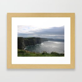 Sun Coming out over Cliffs of Moher Framed Art Print