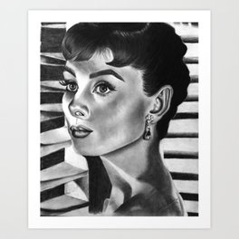 Portrait of Audrey Hepburn Art Print