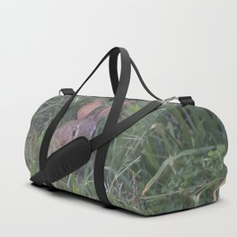 Rabbit in the Grass Duffle Bag