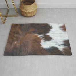 Faux fur, rustic cow hide detail Rug