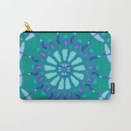 Sea Glass Sun and Flower Mosaic Carry-All Pouch