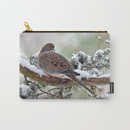 Peaceful Winter Dove Carry-All Pouch
