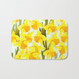 Spring Breeze With Yellow Flowers #decor #society6 #buyart Bath Mat