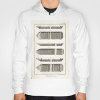 boats Hoodies featuring Boats by Le petit Archiviste