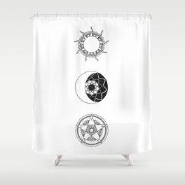 Sun, Moon and Star Mandalas Shower Curtain