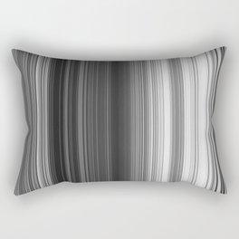 Black White Gray Thin Stripes Rectangular Pillow