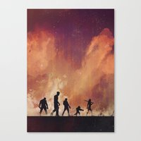 guardians of the galaxy Canvas Prints featuring Guardians of the Galaxy by Brandi Kenney