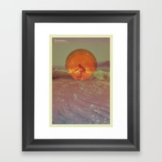 Sun in a cup of sea Framed Art Print