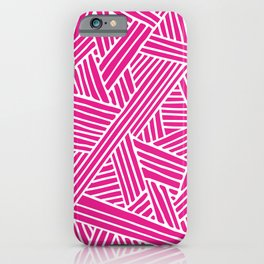 Abstract pink & white Lines and Triangles Pattern - Mix and Match with Simplicity of Life iPhone Case