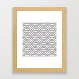 Grey Gray Chevron Framed Art Print