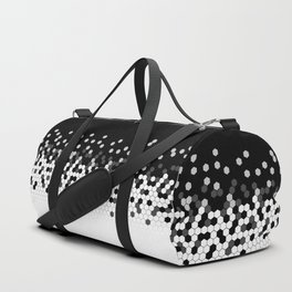 Flat Tech Camouflage Black and White Duffle Bag
