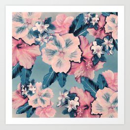 Vintage Nui Loa Hibiscus Art Print