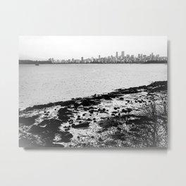Vancouver Skyline on a Grey Day Metal Print