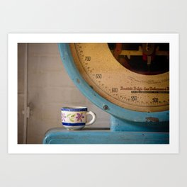 Cup and Scale Art Print
