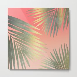 Shining Palm Fronds Metal Print
