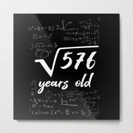 24th Birthday Geek Funny Metal Print
