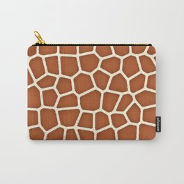 Wild Animal Print, Giraffe in Shades of Copper Brown Carry-All Pouch