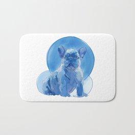 Monochromatic French Bulldog Bath Mat