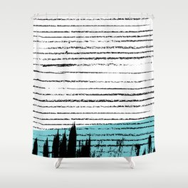 Lines & Strokes 001 Shower Curtain