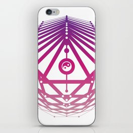 Radiant Abundance (white-warm purple) iPhone Skin