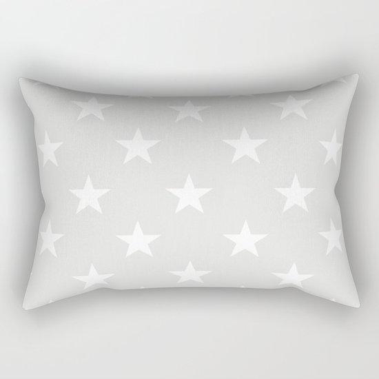 Stars (White/Platinum) Rectangular Pillow
