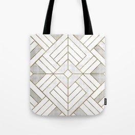 Lennox Vintage Deco - White & Gold Tote Bag