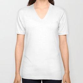 Solid White Unisex V-Neck