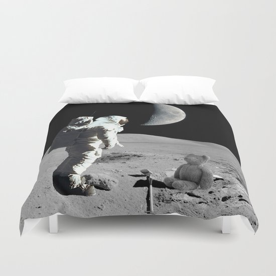 Meet with Teddy Duvet Cover