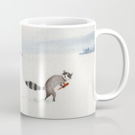 Snowman and Raccoon Coffee Mug