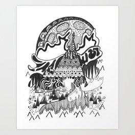Moosely Art Print