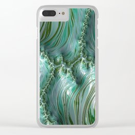 Frothy Waves Clear iPhone Case