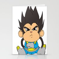 vegeta Stationery Cards featuring Monkey Vegeta by Kame Nico