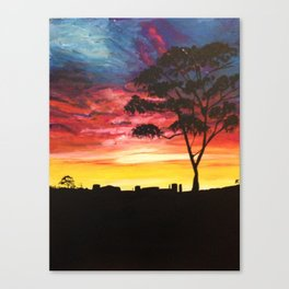Pilbara Sunset Canvas Print