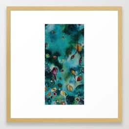 """""""The Garden"""" Original Painting by Emily Mitchell Framed Art Print"""