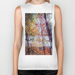 fall trees Biker Tank
