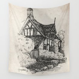 Cottage at Alderley Edge Wall Tapestry