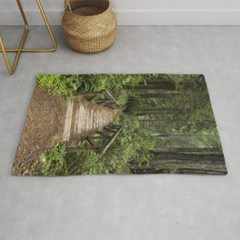 Walk Through Prairie Creek Redwoods State Park Rug
