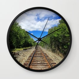 Beautiful Day Train Tracks Wall Clock