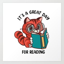 It's a Great Day For Reading Art Print
